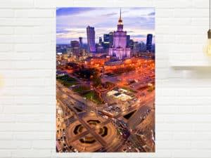 Centrum-Warszawy-podczas-zachodu-słońca-fotoobraz