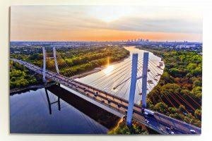 Lato w Warszawie fotoobraz na płótnie 120x80cm