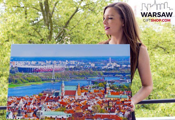 Stadion Narodowy i Stare Miasto w Warszawie fotoobraz WarsawGiftShop