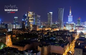 Warsaw skyline by night fotoobraz WARSAWGIFTSHOP