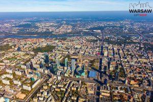 Warszawa jak na dłoni fotoobraz WARSAWGIFTSHOP