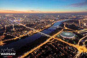 WARSAW ON AIR! fotoobraz na płótnie WARSAWGIFTSHOP