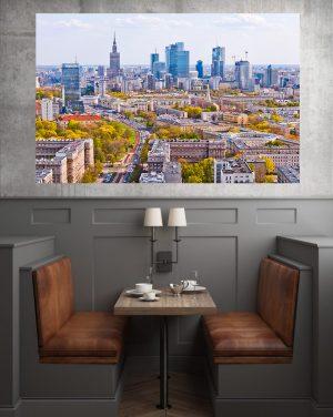 Wiosna w Warszawie fotoobraz na płótnie WarsawGiftShop.com