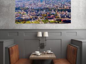 Powiśle z lotu ptaka fotoobraz na płótnie WarsawGiftShop.com