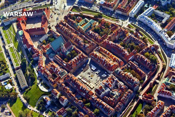Stare Miasto w Warszawie z lotu ptaka fotoobraz WARSAWGIFTSHOP