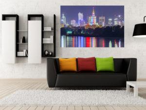 Warszawski Skyline i Wisła fotoobraz