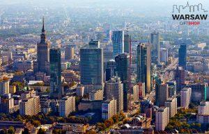 Warszawski skyline za dnia fotoobraz WARSAWGIFTSHOP