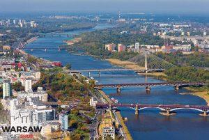 Warszawskie mosty i Wisła z lotu ptaka fotoobraz WARSAWGIFTSHOP