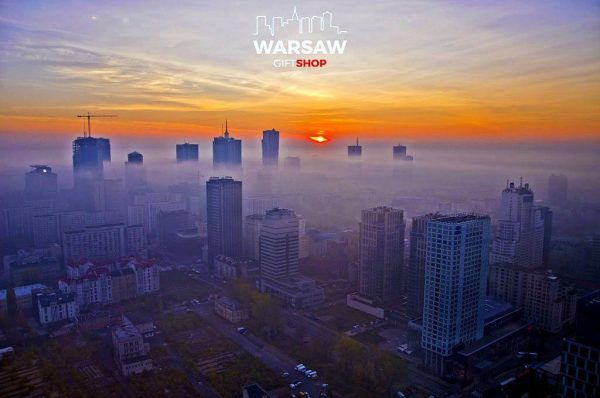 Wieżowce we mgle fotoobraz WARSAWGIFTSHOP