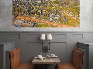 Żoliborz z lotu ptaka fotoobraz na płótnie WarsawGiftShop.com