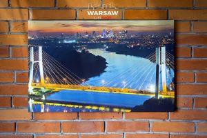 Most Siekierkowski, Wisła i Skyline fotoobraz na płótnie