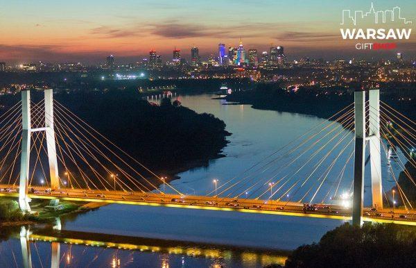 Most Siekierkowski Wisła i Skyline fotoobraz WARSAWGIFTSHOP