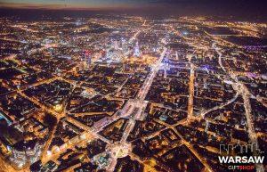 Place Warszawy z lotu ptaka fotoobraz WARSAW ON AIR