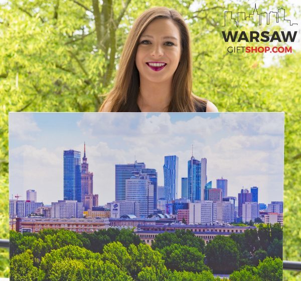Warszawskie wieżowce i zieleń fotoobraz WarsawGiftShop.com