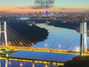 most siekierkowski, wisła i skyline