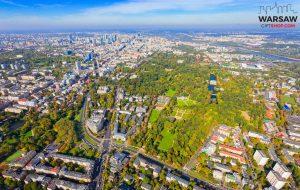 Łazienki Królewskie z lotu ptaka fotoobraz WARSAW GIFT SHOP