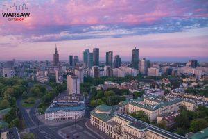 Warszawski świt fotoobraz na płótnie WARSAW GIFT SHOP