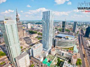 Centrum Warszawy za dnia fotoobraz WARSAWGIFTSHOP