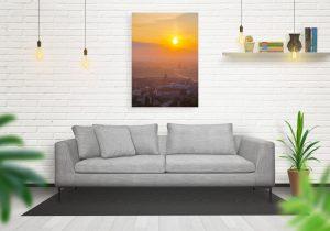 Wschód słońca nad Zamkiem Królewskim fotoobraz