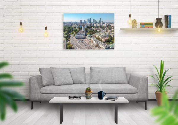 Warszawskie wieżowce, Plac Bankowy i Ratusz - fotoobraz