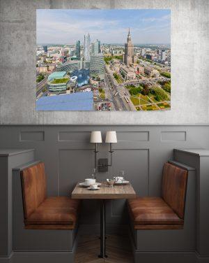 Centrum Warszawy w słońcu fotoobraz na płótnie WarsawGiftShop.com