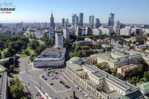 Warszawskie wieżowce, Plac Bankowy i Ratusz fotoobraz