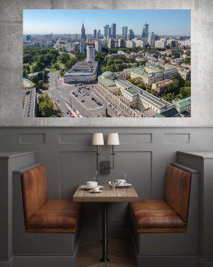 Warszawskie wieżowce, Plac Bankowy i Ratusz fotoobraz na płótnie WarsawGiftShop.com