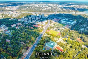 Zielone-Powiśle-i-Agrykola-z-lotu-ptaka-fotoobraz