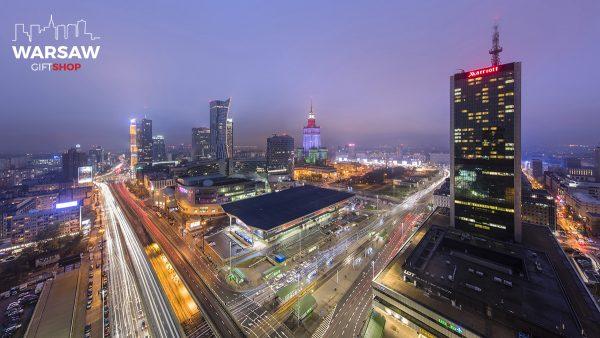 Warszawa Centralna nocą