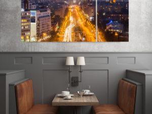 Sen o Warszawie Nocą fotoobraz na płótnie WarsawGiftShop.com