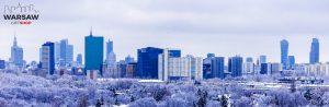 Zima w Warszawie fotoobraz panoramiczny