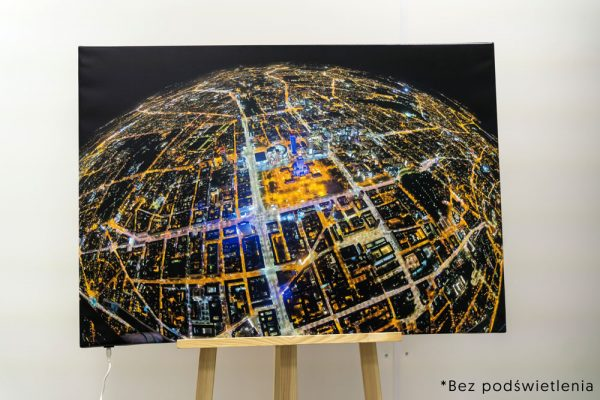 Fotoobraz podświetlany Planeta Warszwawa