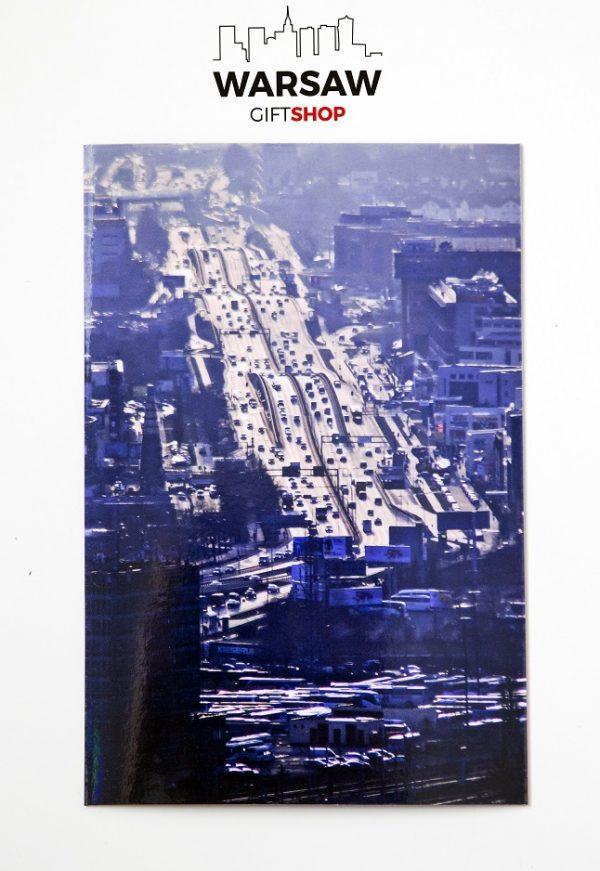 Morskie fale Alei Jerozolimskich magnes pocztówkowy