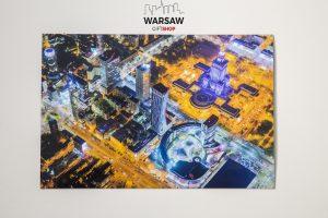 WARSAW ON AIR Magnes pocztówkowy
