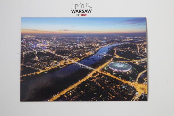 Warszawa z lotu ptaka magnes pocztówkowy