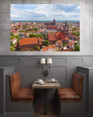 Lato w Gdańsku fotoobraz na płótnie WarsawGiftShop