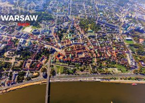 Stare miasto z lotu ptaka fotoobraz WARSAWGIFTSHOP