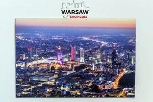 Centrum Warszawy po zachodzie słońca