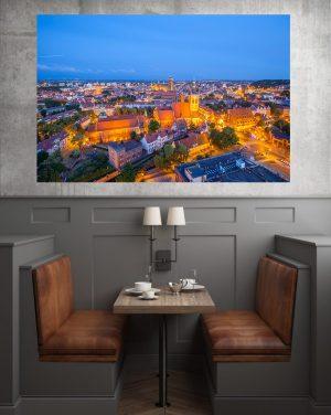 Gdańsk nocą fotoobraz na płótnie WarsawGiftShop