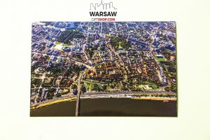 Stare miasto i bulwary Wisłane z lotu ptaka magnmes pocztówkowy