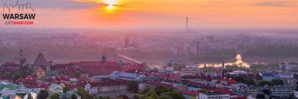 Wschód słońca nad Zamkem Królewskim i Pragą fotoobraz panoramiczny