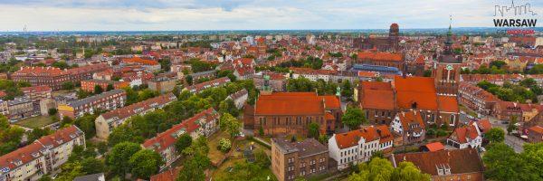 Panorama Gdańska za dnia - fotoobraz na płótnie