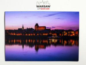 Toruń nocą magnes pocztówkowy WarsawGiftShop