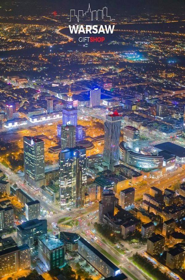 Warszawskie wieżowce fotoobraz pionowy WARSAWGIFTSHOP
