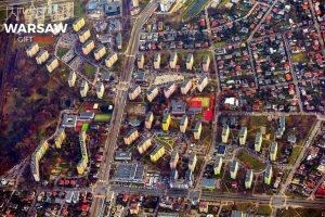Bemowo Jelonki z lotu ptaka fotoobraz na płótnie WARSAW GIFT SHOP