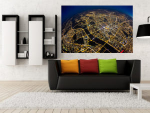 Planeta Warszawa widziana z 3km fotoobraz na płótnie z kolekcji WARSAW ON AIR