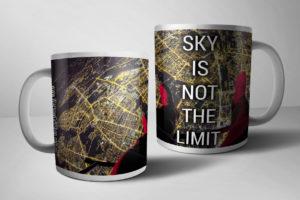 SKY IS NOT THE LIMIT kubek WarsawGiftShop.com