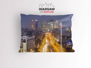 Sen o Warszawie Nocą poduszka dekoracyjna WarsawGiftShop.com
