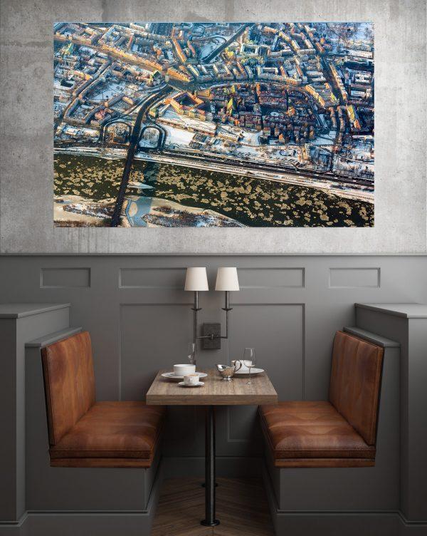 Stare Miasto z lotu ptaka zimą fotoobraz z kolekcji WARSAW ON AIR!
