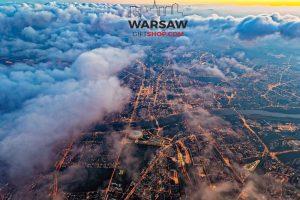 Warszawa w chmurach fotoobraz WARSAWGIFTSHOP